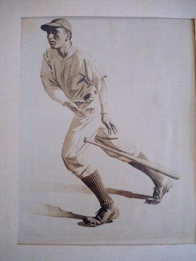 Lot Of 6 Sporting Photos Of Ken Fagg's Artwork Inc