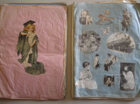 Two Victorian Scrap Books With Mostly Die-cuts Pas