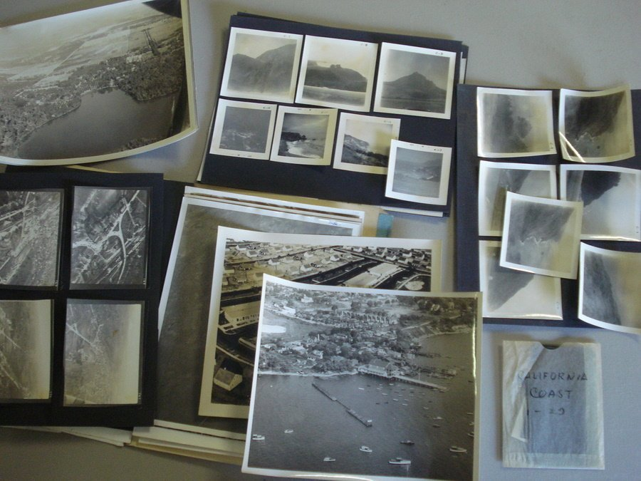 120: Large grouping of aerial photos used in Ken Fagg's