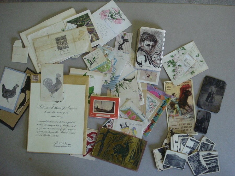 126: Grouping of misc. artwork and ephemera from the Ke