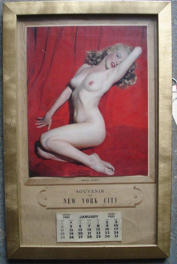 "164: Original Marilyn Monroe calendar ""Souvenir of New"
