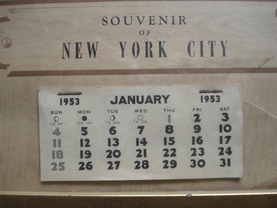 "164: Original Marilyn Monroe calendar ""Souvenir of New - 2"