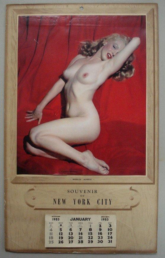 "164: Original Marilyn Monroe calendar ""Souvenir of New - 3"