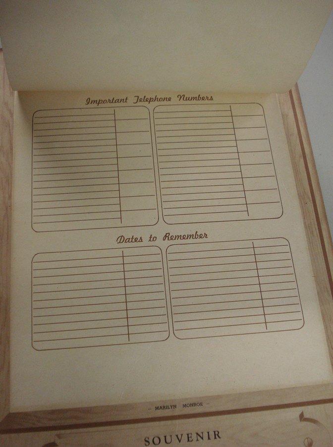 "164: Original Marilyn Monroe calendar ""Souvenir of New - 6"