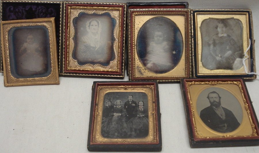 177: Six cased images including 4 Daguerreotypes (2 of