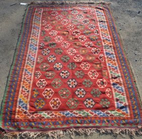 Kilim Estate Found Oriental Rug - Mid To Late 20th