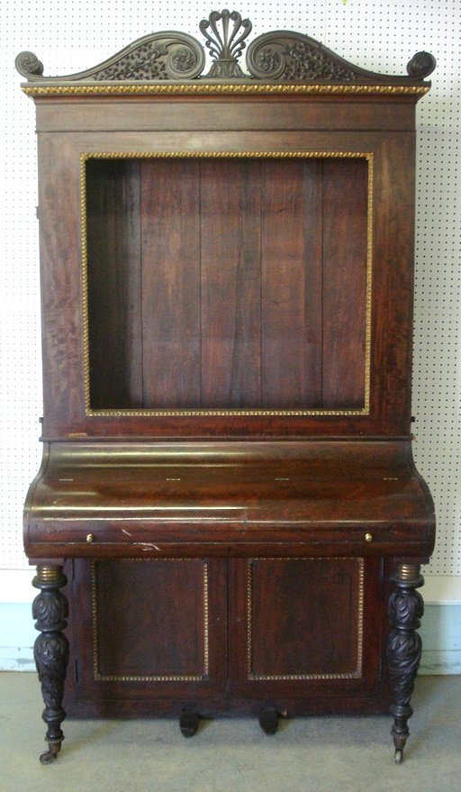 207: Large early 19th century piano converted to secret