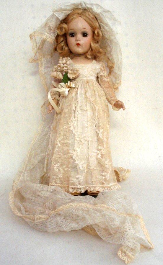 209: Compostion Madame Alexander Bride's Doll in origin
