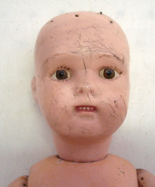 """213: Schoenhut """"Miss Dolly"""" doll. Some crazing on face"""