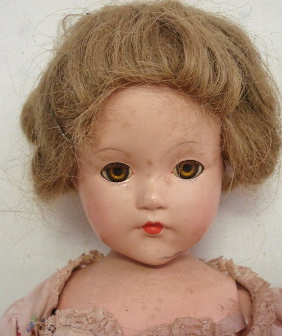 """216: Effanbee composition """"Anne-Shirley"""" doll."""