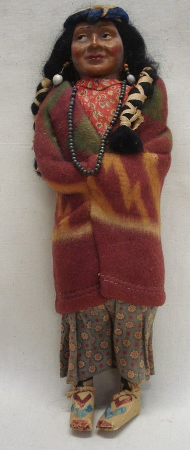 218: Skookum Indian doll in original costume - very goo