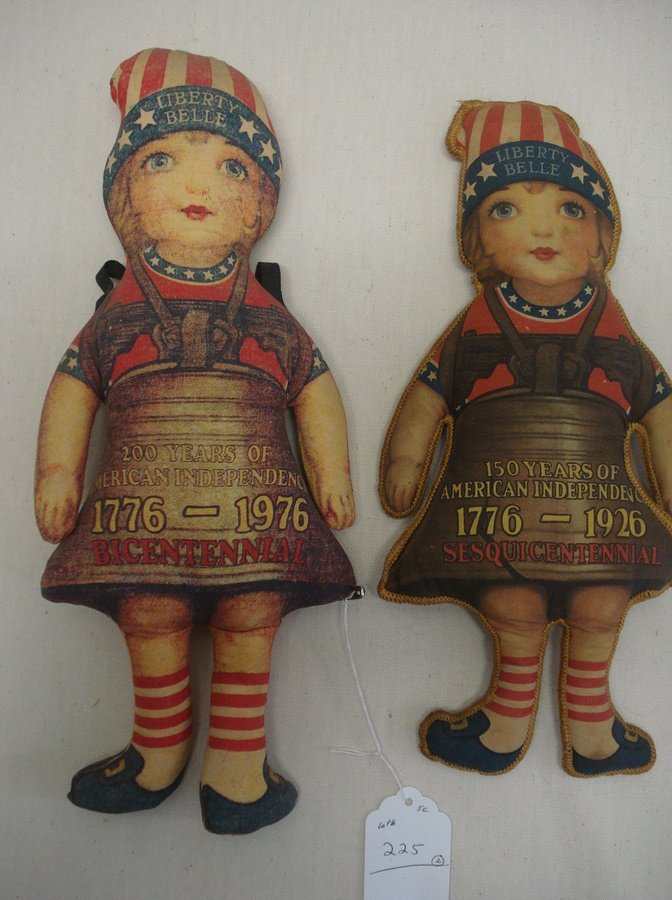 """225: Two """"Liberty Belle"""" cloth dolls including 1926 ses"""