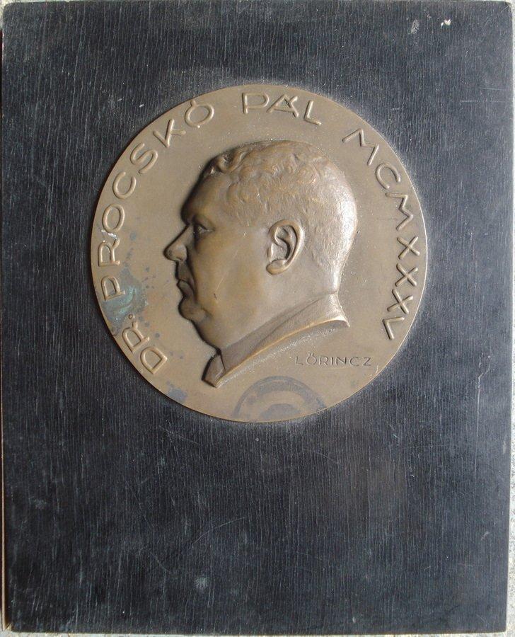 206B: Bronze wall plaque of Dr. Procsko Pal.