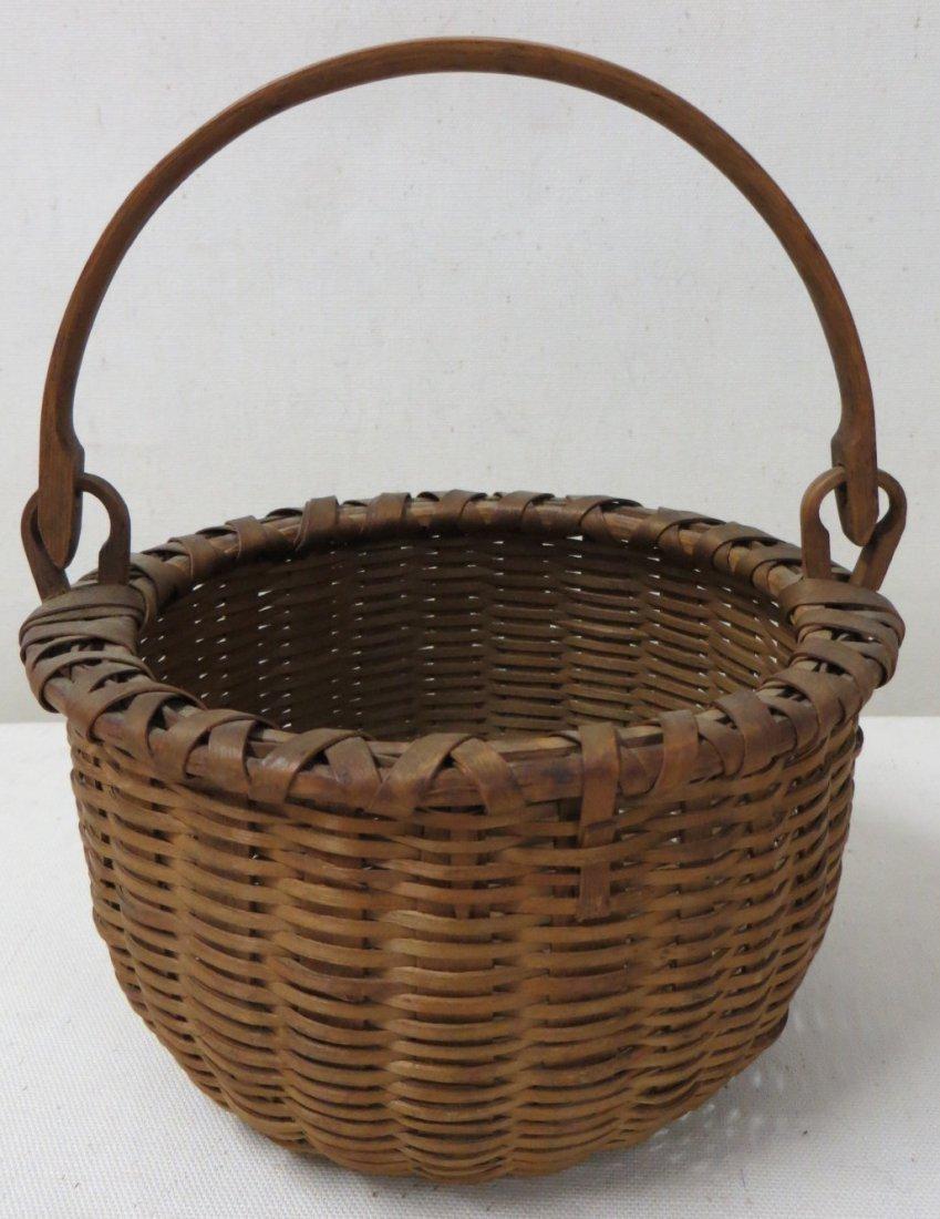 87: Miniature Taconic swing-handle basket, beautiful ol