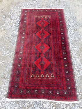 "Oriental Scatter Rug. Tag Attached ""Made In Iran""."