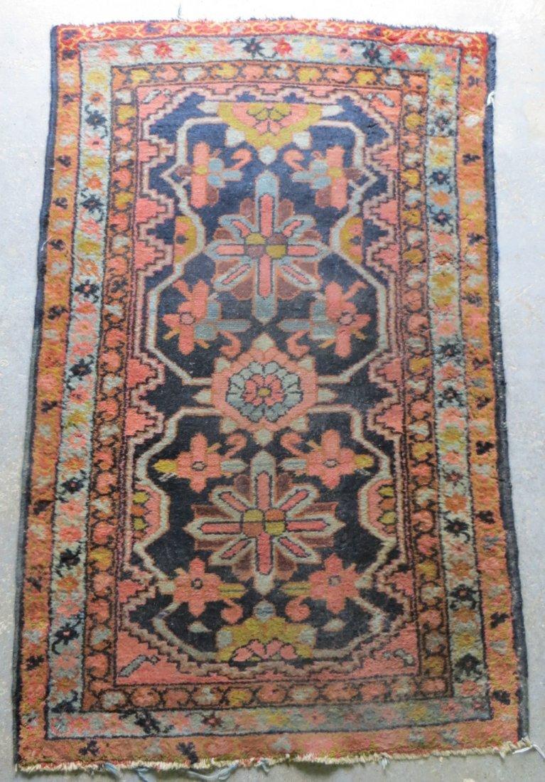 "189: Two oriental scatter rugs. 35.5"" x 37"" & 30"" x 47."