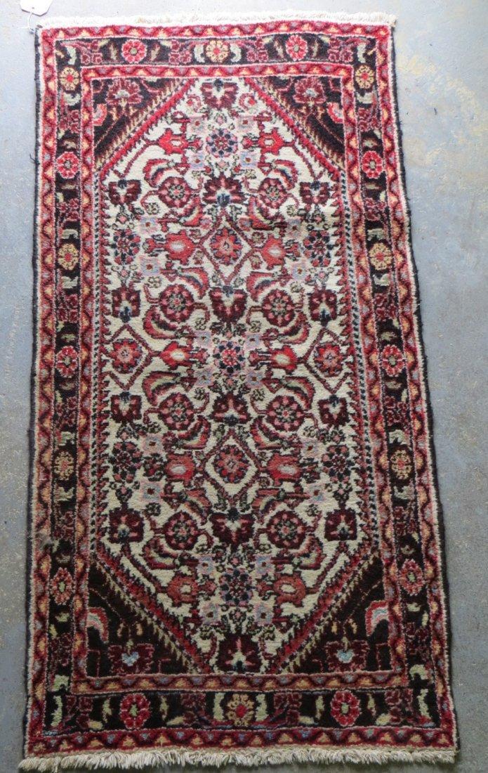 "190: Oriental scatter rug. 2' 6"" x 4' 10"""