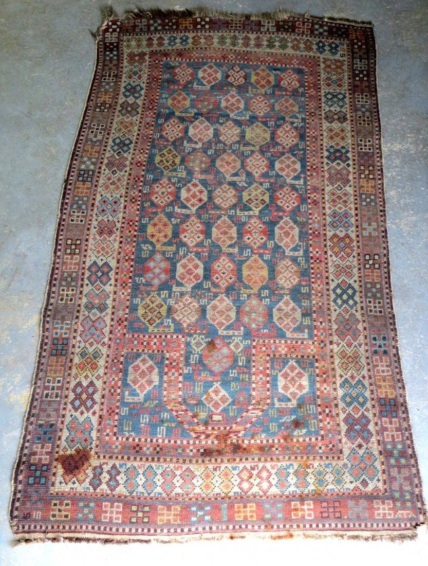 """191: Oriental scatter rug. 3' 3"""" x 5' 10"""". Provenance:"""