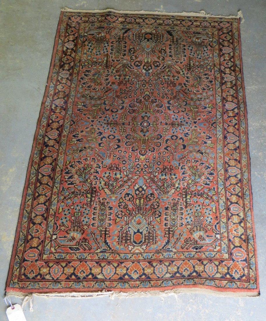 "192: Oriental scatter rug. 3' 6"" x 5' 4"". Provenance: E"