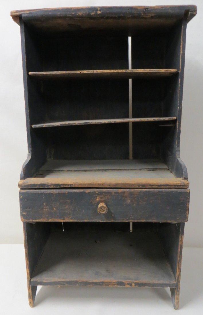 195: Primitive 19th century child's cupboard, open top