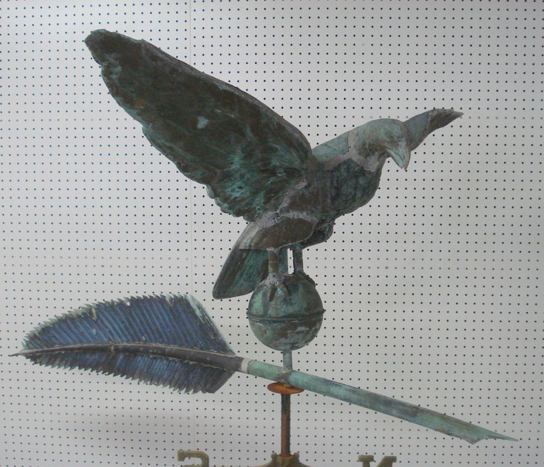 253: Monumental Eagle and Quill full body copper weathe