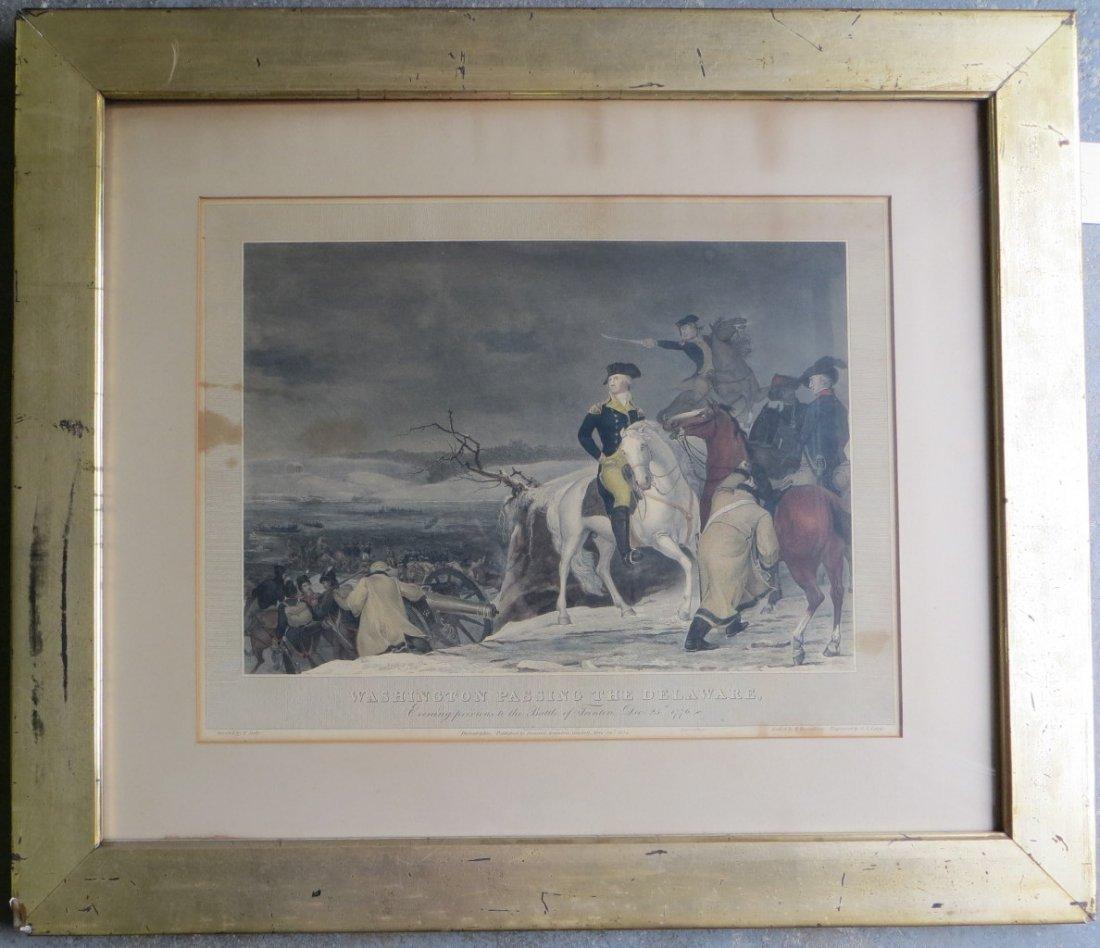"389: Hand colored lithograph entitled ""Washington Passi"