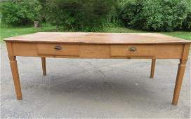 310H: Large 2 drawer Canadian farm table.