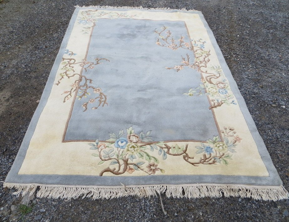 12: Modern hand made room size Chinese oriental rug. La
