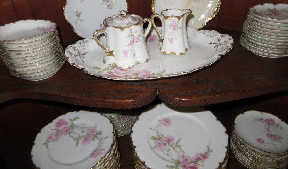 """277: Set of Haviland Limoges china """"Baltimore Rose"""". - 4"""