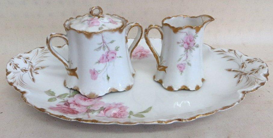 """277: Set of Haviland Limoges china """"Baltimore Rose"""". - 6"""