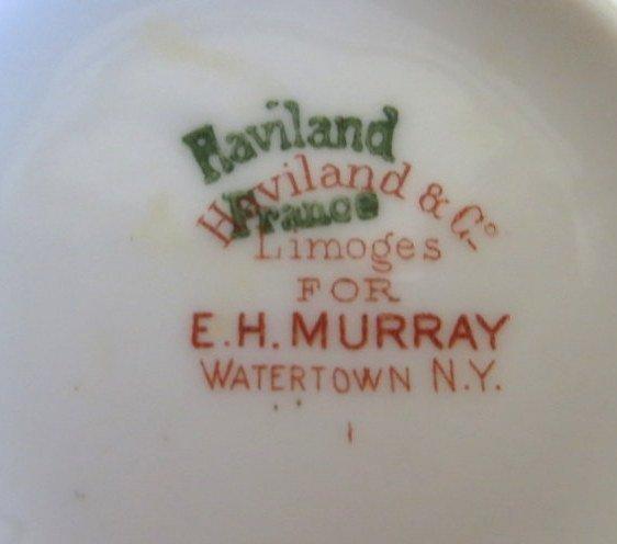 """277: Set of Haviland Limoges china """"Baltimore Rose"""". - 8"""
