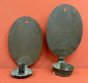 15: Pair of similar early 19th century tin wall sconces