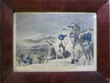 """325: Hand colored 19th century lithograph entitled """"Was"""