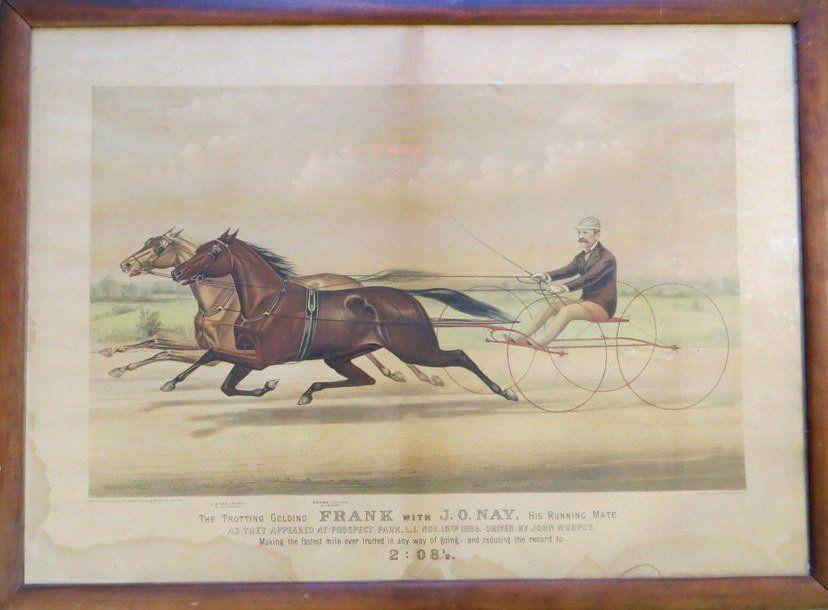202: Large folio C & I's Trotting litho. - 19th c.