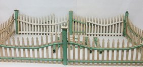 2: Lot of wooden Christmas tree fencing with wired elec