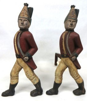 Hessian Marching Soldiers With Sword Cast Iron Andir