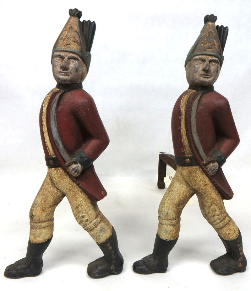 4: Hessian marching soldiers with sword cast iron andir