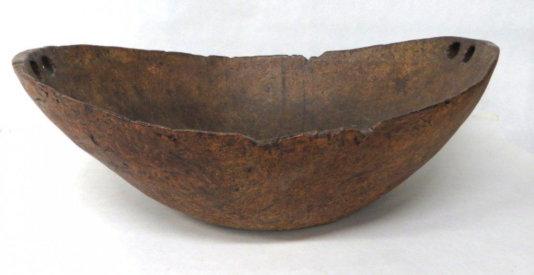 "188D: Exceptional Native American 24"" ash burl bowl"