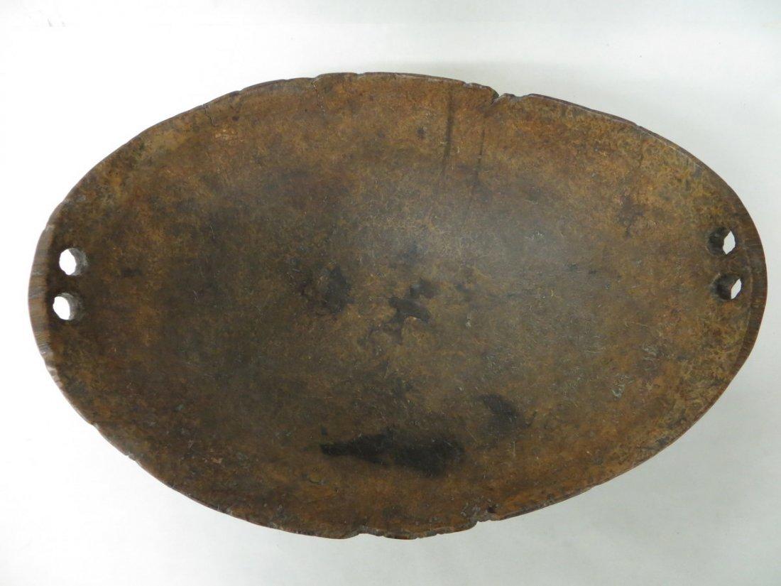 "188D: Exceptional Native American 24"" ash burl bowl - 3"
