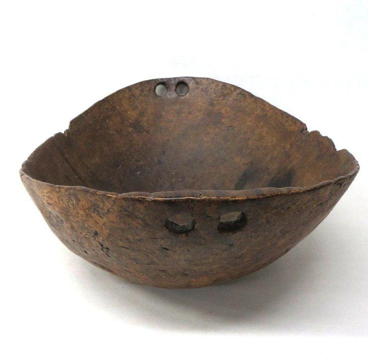 "188D: Exceptional Native American 24"" ash burl bowl - 7"