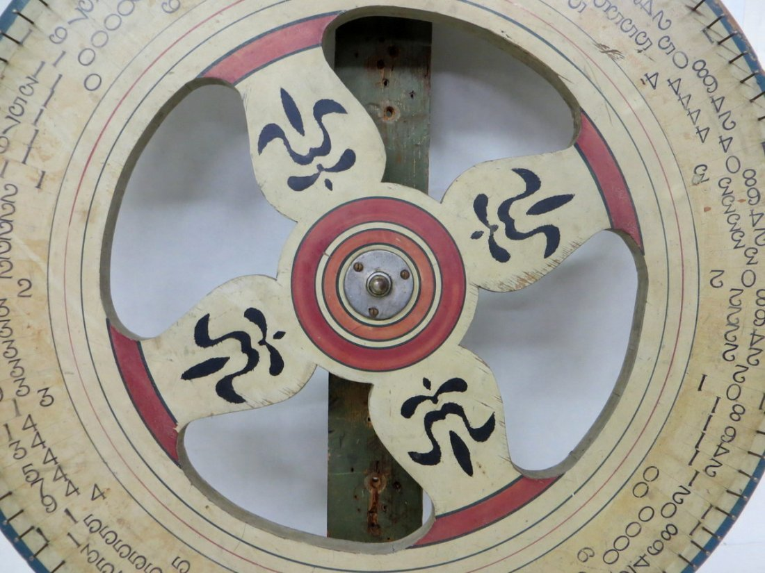 """371: Hand painted gaming wheel - 30""""D. - 2"""