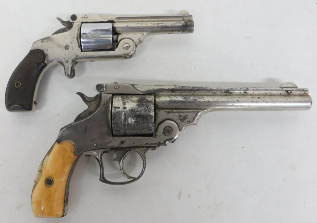 Two antique revolvers including a Smith & Wesson 6 shoo