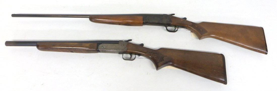 Two singe shot shotguns including Stevens Mod 94H .410