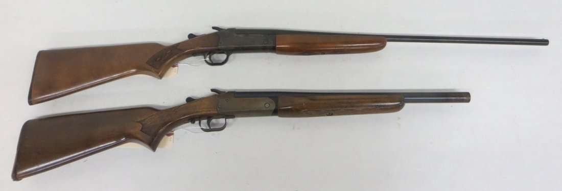 Two singe shot shotguns including Stevens Mod 94H .410  - 2