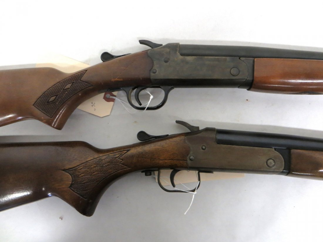 Two singe shot shotguns including Stevens Mod 94H .410  - 4
