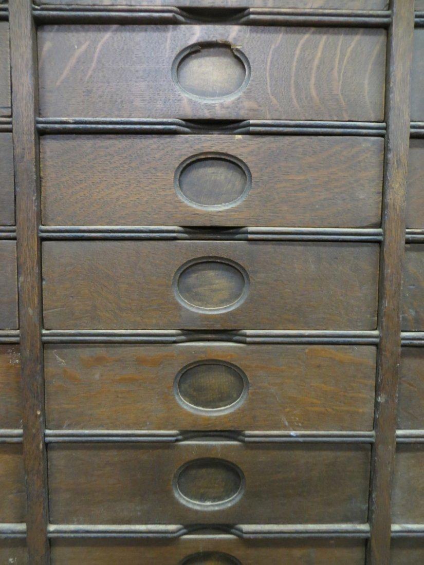 Amberg's Cabinet Letter File in oak having 24 interior  - 3
