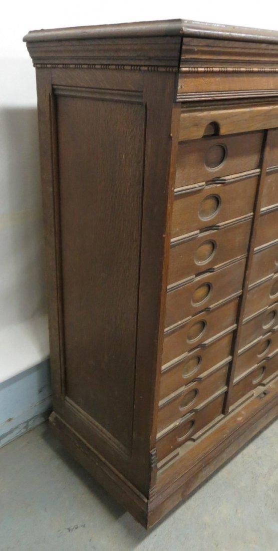 Amberg's Cabinet Letter File in oak having 24 interior  - 4