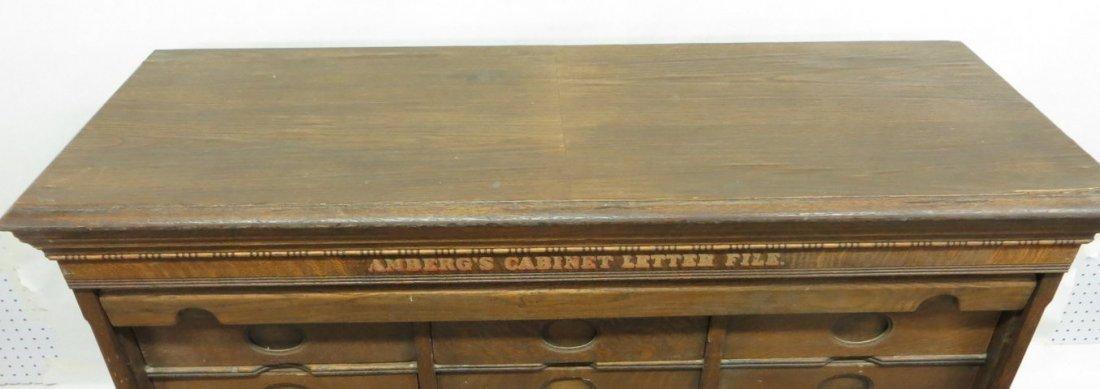 Amberg's Cabinet Letter File in oak having 24 interior  - 5