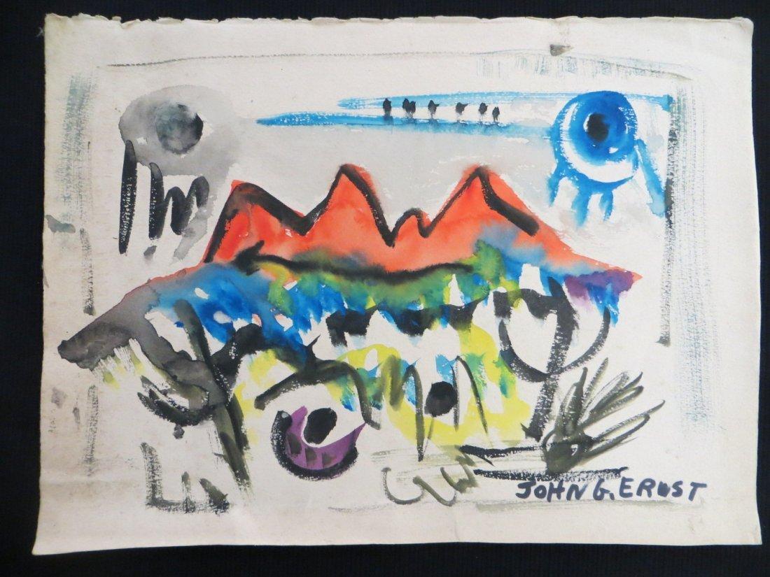 John G. Ernst (NY-Woodstock 1920-1995) - Modernistic W/