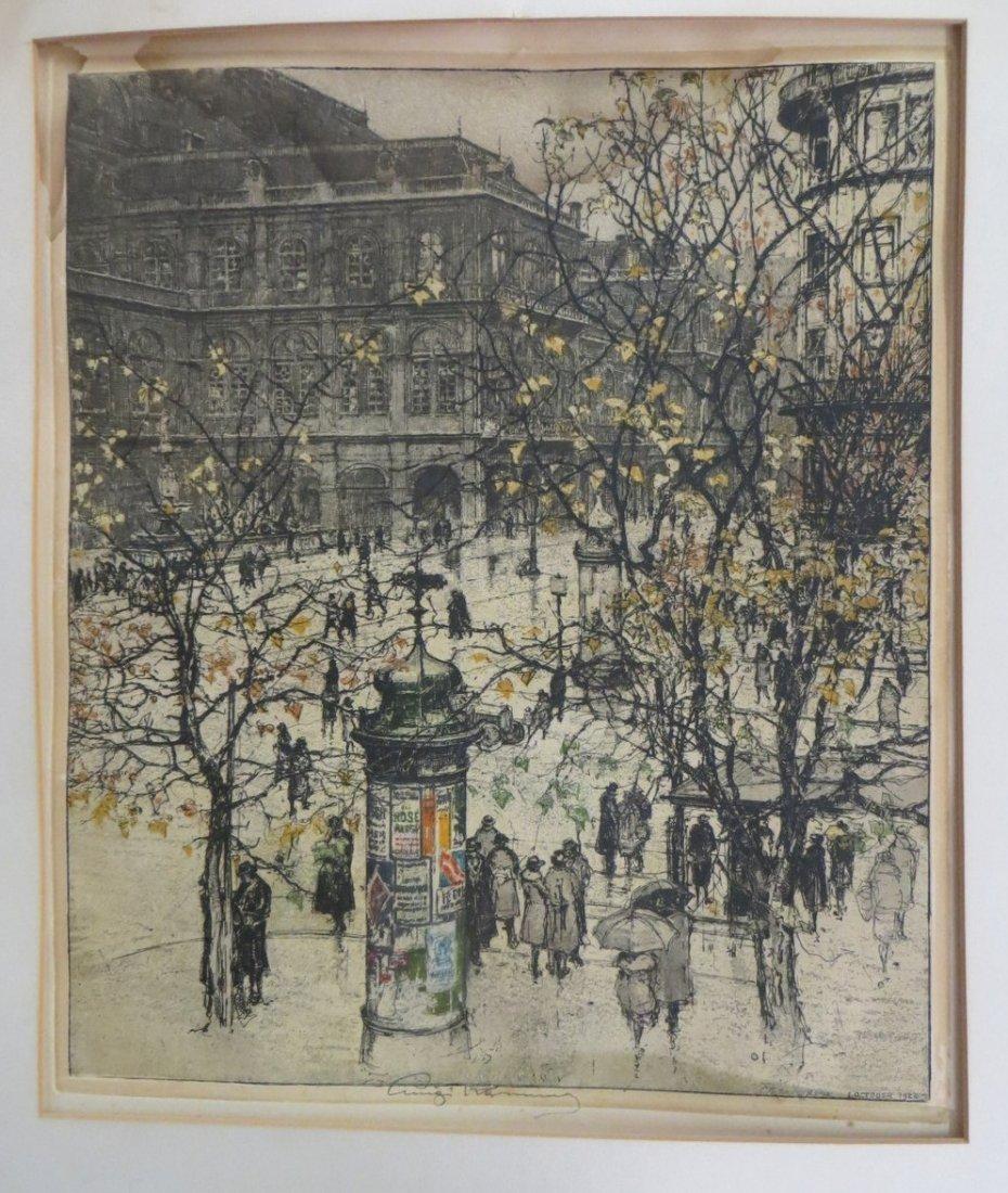Luigi Kasimir (Calif/Austria 1881-1962) - Colored etchi